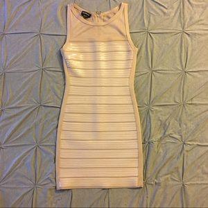 Bebe - Sequin Blush BodyCon Dress
